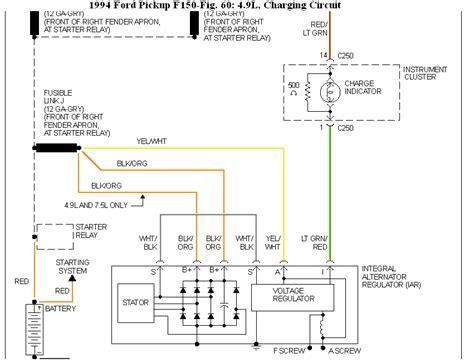 94 f150 alternator wiring diagram 78 f150 alternator