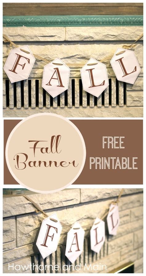 free printable autumn banner fall banner free printable hawthorne and main