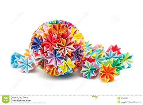 Origami Medicine - japanese kusudama stock photo image 41853591