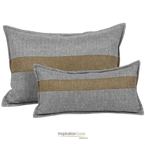 coussin gris coussin moderne gris et marron rectangulaire