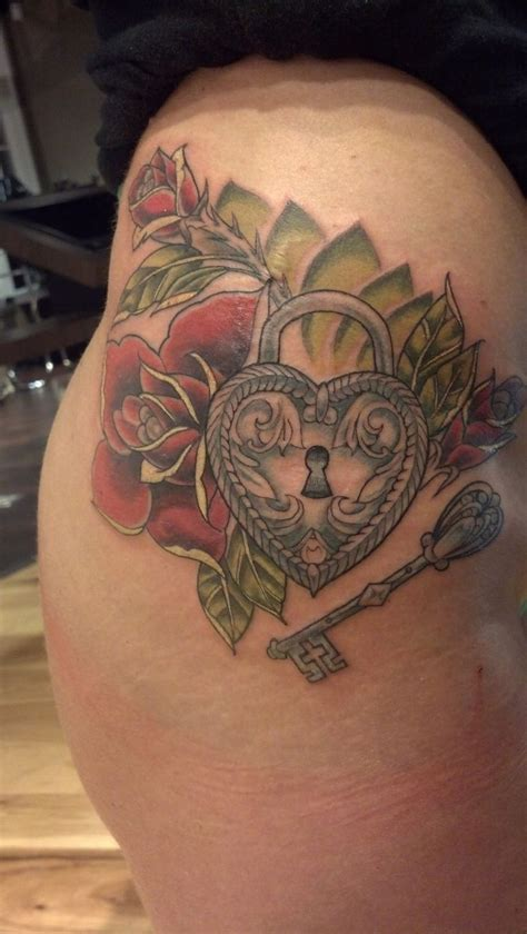 rose and locket tattoo nathanemery traditional locket and key by