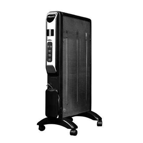 room heater radiator newair 1500 watt radiator micathermic space electric portable heater ah 470 the home depot