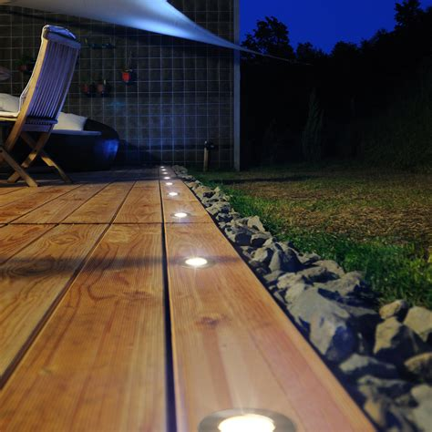 led patio lights mini recessed led puck light for indoor or outdoor use