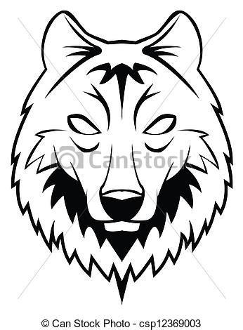 t 234 te loup clipart vectoriel rechercher illustration