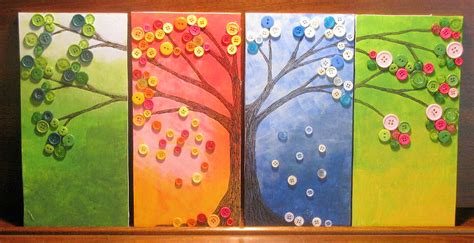 Pinterest Home Decor On A Budget 4 seasons tree art project ingeflinte com