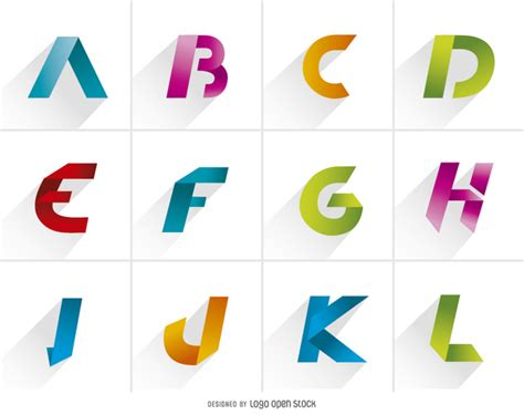design a letter logo for free logo letters element pack