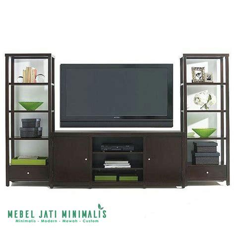 Lemari Tv Jati lemari hias tv minimalis jati ruang tamu mebel jati