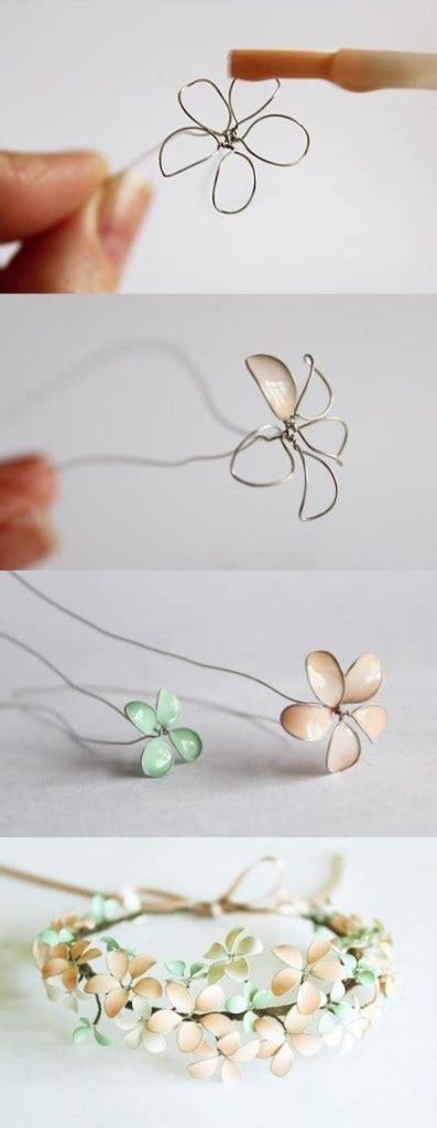 fiori con lo smalto fiori con smalto e filo argentato tutorial