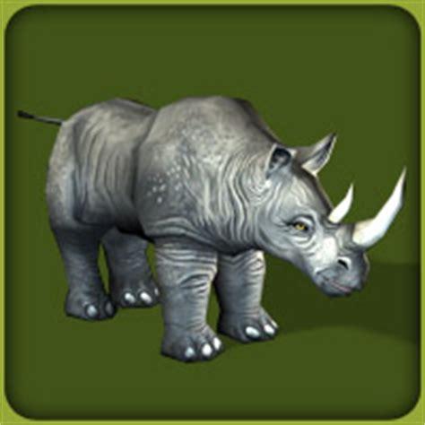 Black Rhinoceros - The Zoo Tycoon Wiki - Zoo Tycoon, Zoo ...