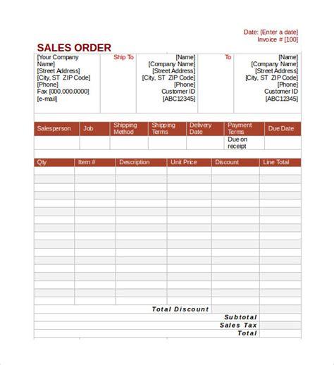 7 Sales Order Sles Sle Templates Sales Order Template