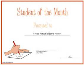 free printable student of the month certificate templates education certificates top student of the month