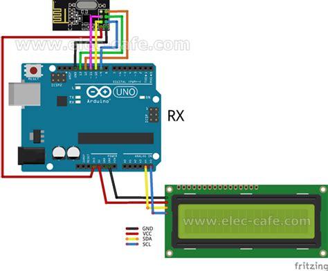 arduino code nrf24l01 arduino wireless temperature lcd display nrf24l01 dht11