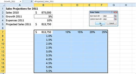Two Way Data Table Excel by How To Create A Two Way Data Table In Excel 2007 How To