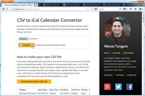 Icalendar File How To Convert Excel To Ics Calendar Files With Ms Excel