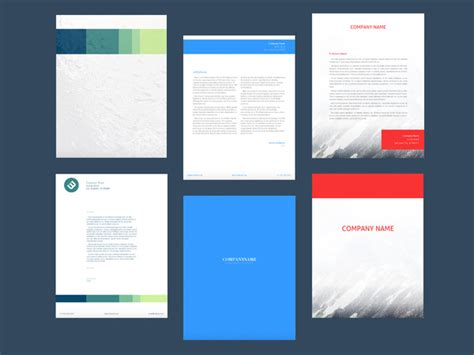 Business Letterhead Creator Software Letterhead Maker Design Letterheads 3 Free Templates