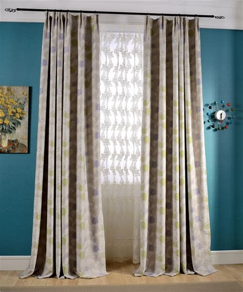 ebay bedroom curtains pastorale yellow leaves beige blockout curtain room
