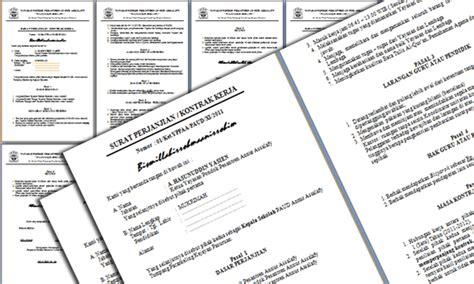 contoh surat perjanjian kontrak kerja guru paud format