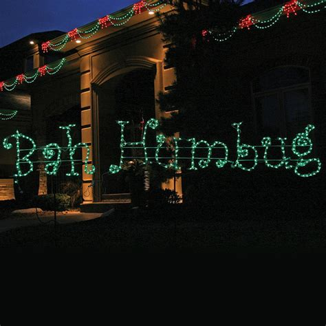 bah humbug lighted sign lighted quot bah humbug quot 12 ft sign traditional outdoor