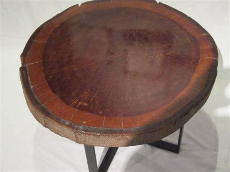1940s wood slice coffee table at 1stdibs