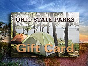 Reserve America Gift Card - cgrounds and cing reservations ohio state parks
