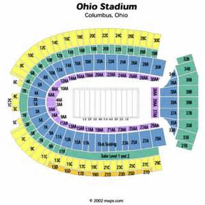 Ohio State Stadium Map by Ohio Stadium Seating Chart Ohio Stadium Tickets Ohio