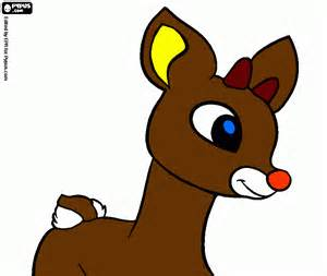 rudolph coloring printable rudolph