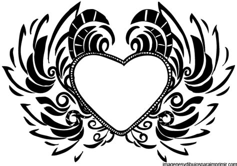 imagenes en negro para imprimir corazones para imprimir gratis