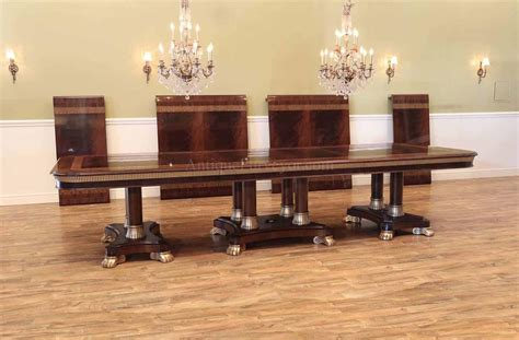large  foot mahogany extension dining table seats
