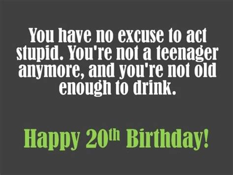 Happy Birthday 20 Years Quotes 20th Birthday Wishes To Write In A Card Birthday Wishes