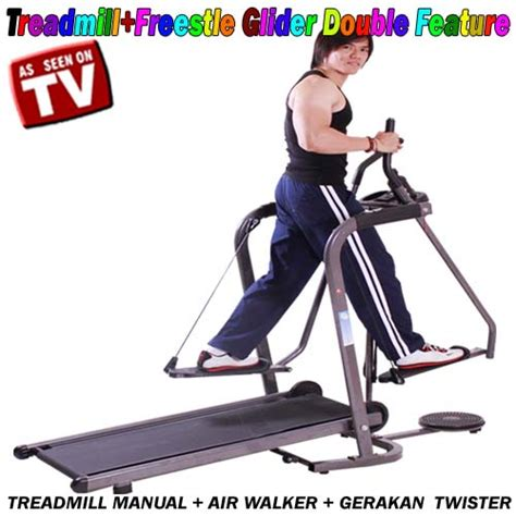 Treadmill Manual Freesytle Glider Tredmil Manual Freestyle Airwalker treadmill frestyle atau freestyle glider feature