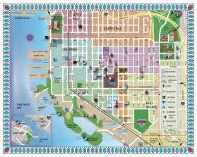 San Diego Tourist Map by Downtown San Diego Images
