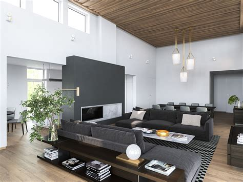 home interiors 3 modern homes in many shades of gray