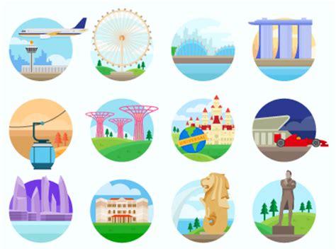 icon design singapore singapore landmark by oktafian angga nugraha dribbble