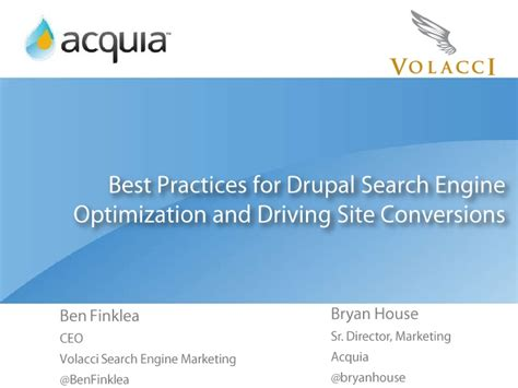 best practices for drupal search engine optimization and