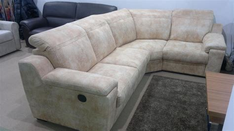 Corner Sofa With Microfiber Cover And Adjustable Head Rest