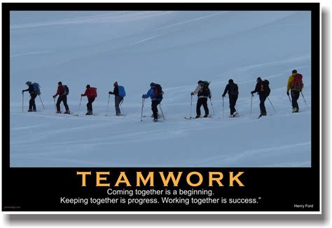 new motivational teamwork poster henry ford quote
