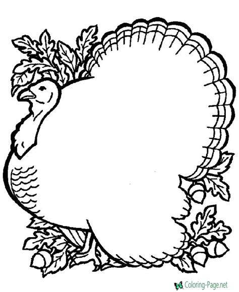 turkey coloring pages coloring pages to print turkey thanksgiving coloring pages