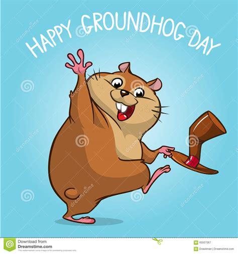 groundhog day groundhog vector happy groundhog groundhog day design with