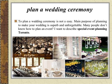 how to plan an event wedding ceremony special event planning toro