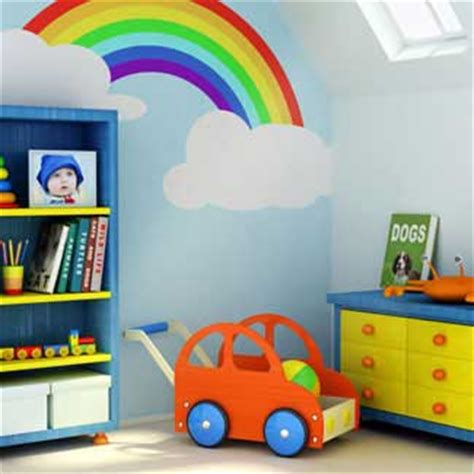 rainbow bedroom accessories rainbow mural for kids room decor