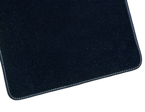 floor mats velours rear black with silver double