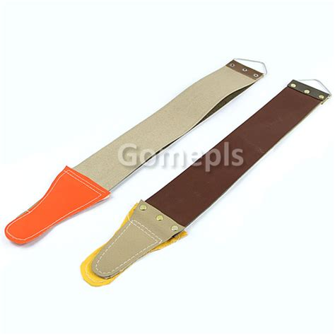 sharpening a razor canvas leather sharpening strop for barber open