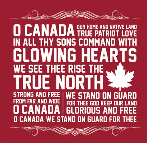 Oh Canada The For And - canadian national anthem roots 01 printers