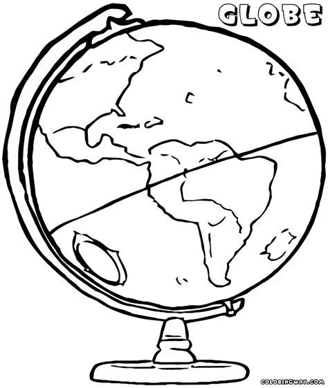 coloring page of globe globe coloring pages coloring pages to download and print