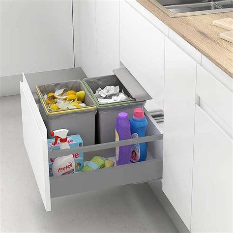 cubo basura cocina cubo de basura integrado para caj 243 n de cocina 450 mm