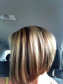 bob hair with high lights and lowlights red hair blonde highlights brown lowlights short bob