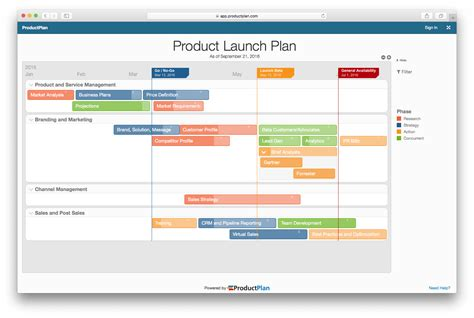 Product Launch Plan Launch Calendar Template