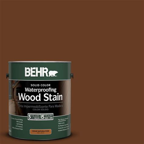 behr premium 1 gal st 110 chestnut semi transparent weatherproofing wood stain 507701 the