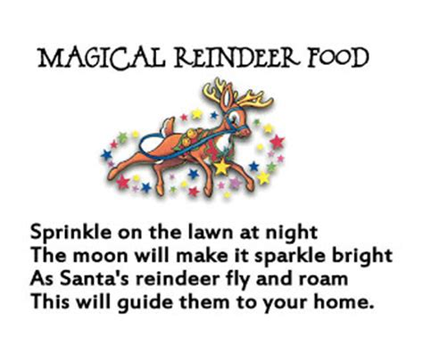 magic reindeer food poem template homemaking magical reindeer food