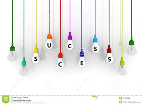 Glass Bulb Lamp by 3d Light Bulb Colorful Success Concept On White Background